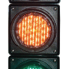 100mm traffic lights front view