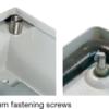 270 degree turn fastening screws